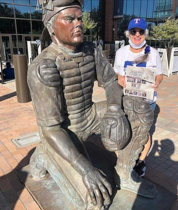 NOMADIC NEWSPAPER enjoys at game at Globe Life Field