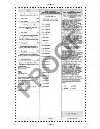 Back Page - Rotan ISD - Sample Ballot